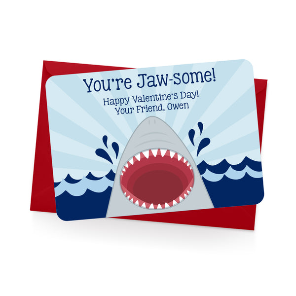 Shark Personalized Valentine's Day Cards