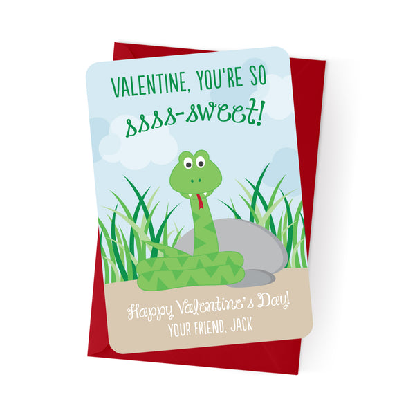 Snake Personalized Valentine's Day Cards