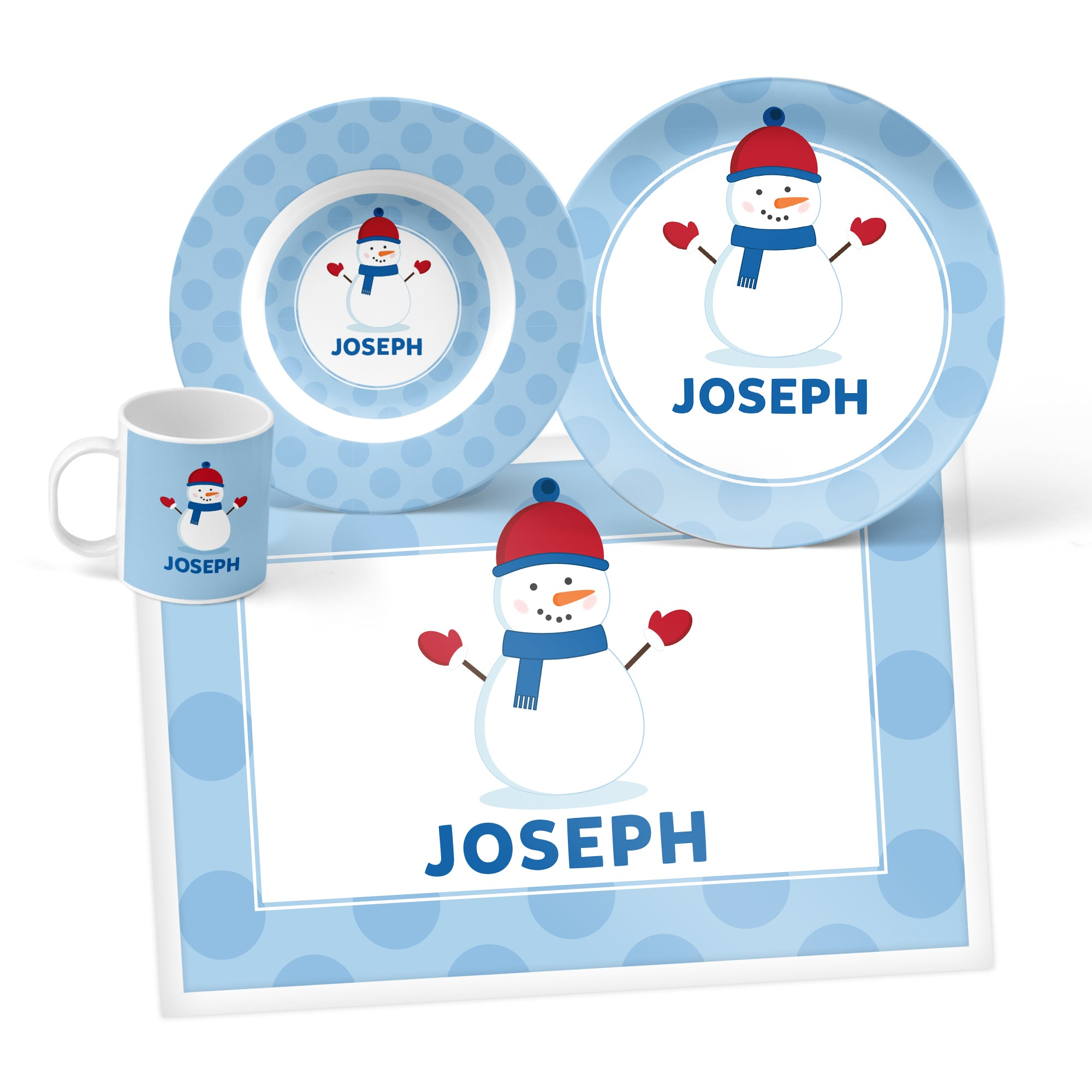 Snowman Personalized Mealtime Set