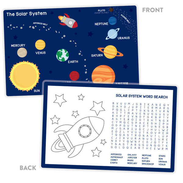 Activity Placemat – Solar System