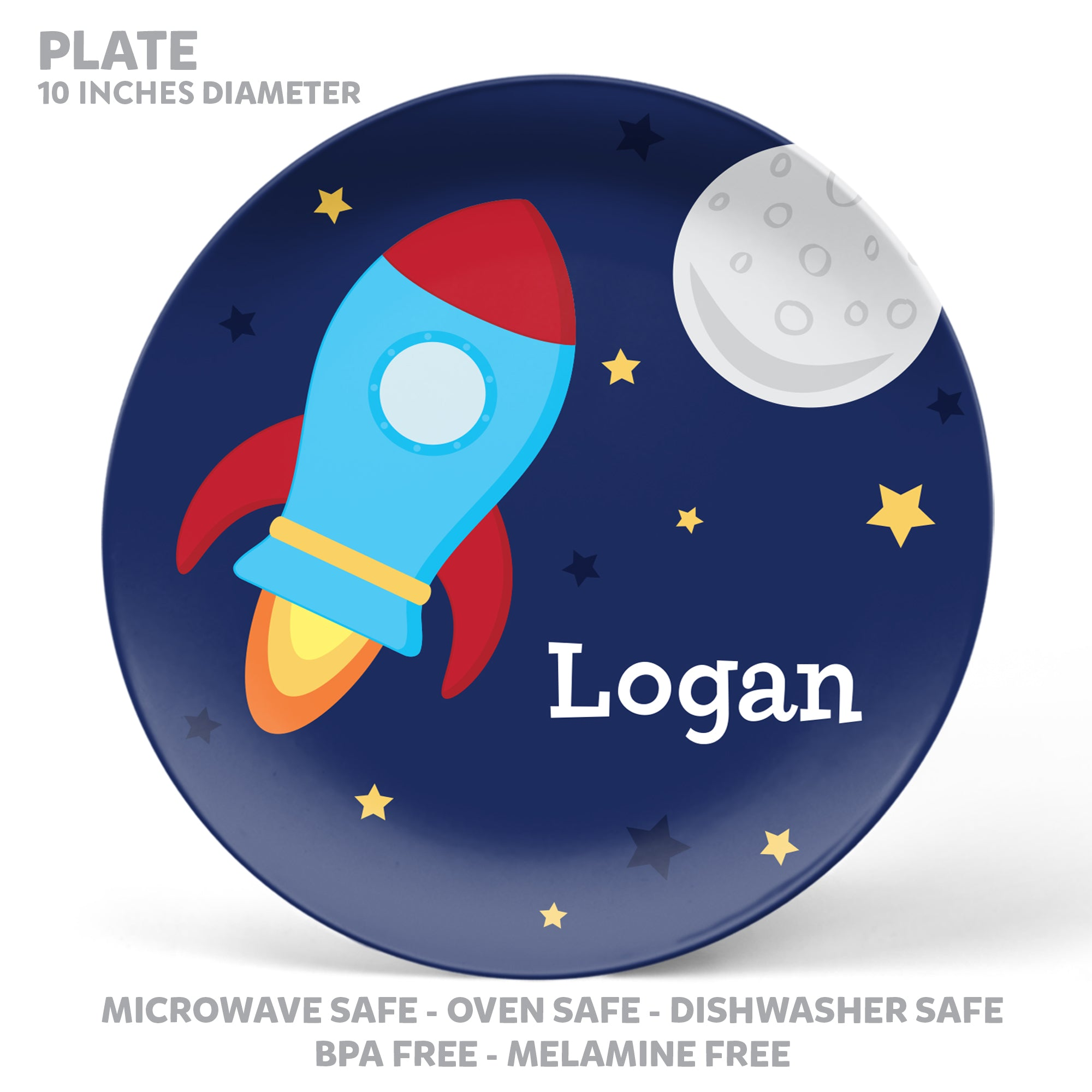 Spaceship Personalized Mealtime Set