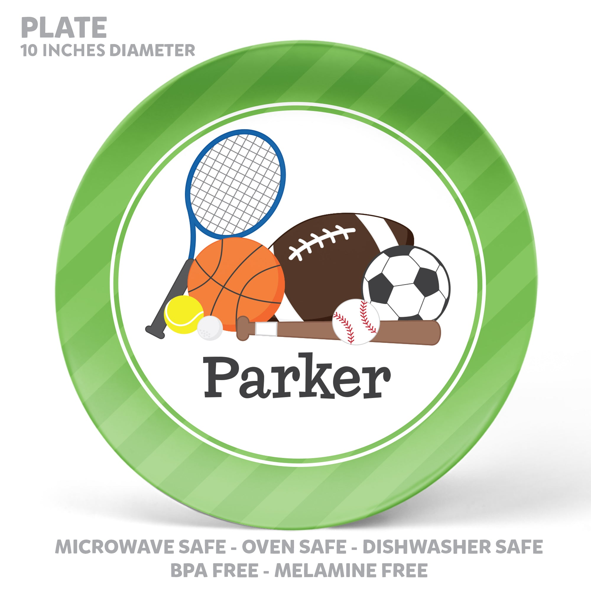 Sports Personalized Mealtime Set