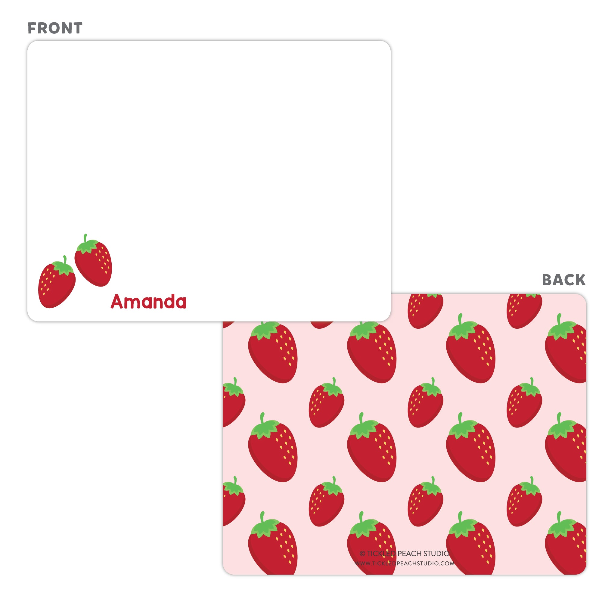 Strawberry Note Cards