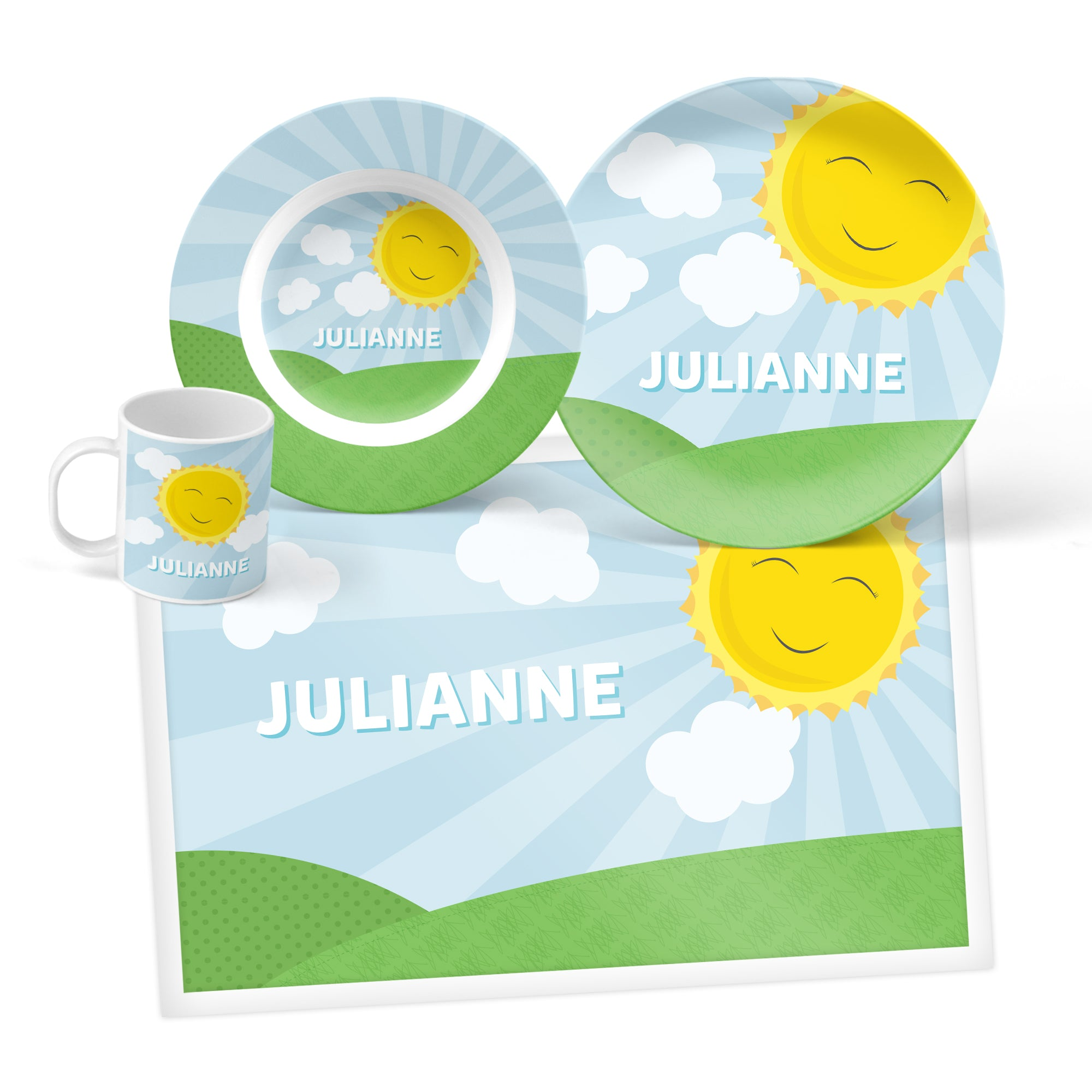 Sunshine Personalized Mealtime Set