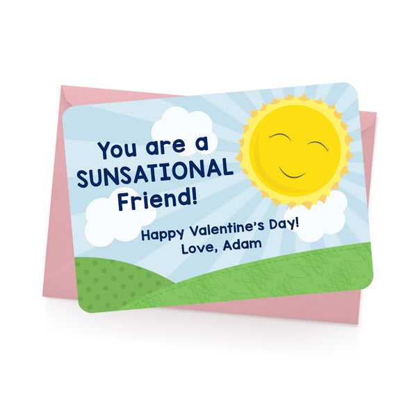 Sunshine Personalized Valentine's Day Cards