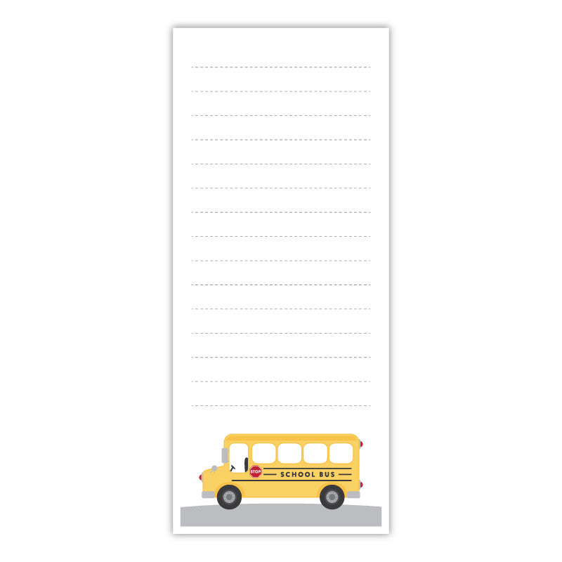 School Bus Teacher Notepad