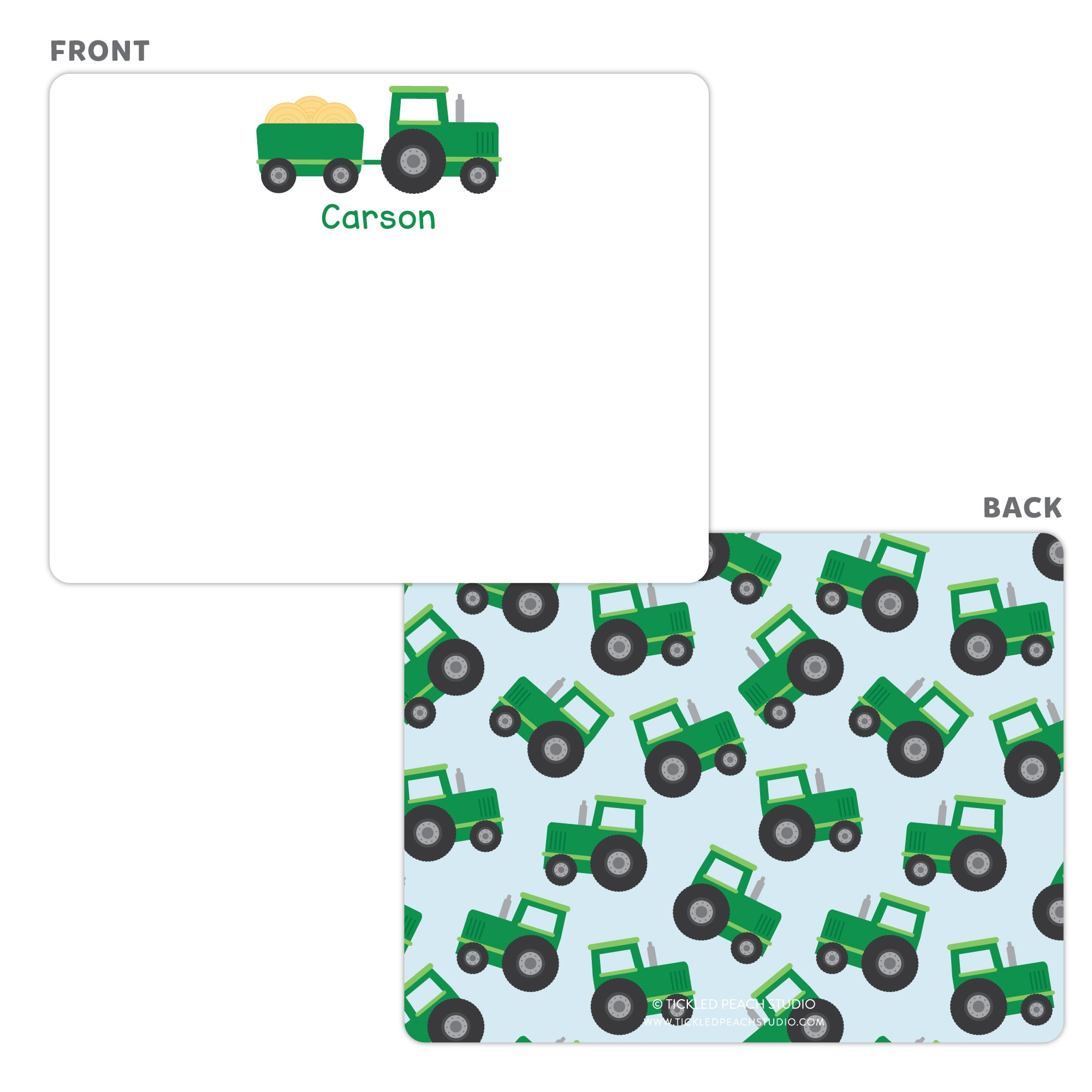 Tractor Note Cards - Thank You Cards