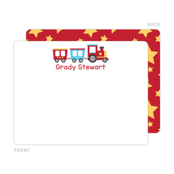 Train Note Cards - Thank You Cards