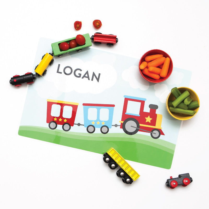 Personalized Kids Placemat - Train