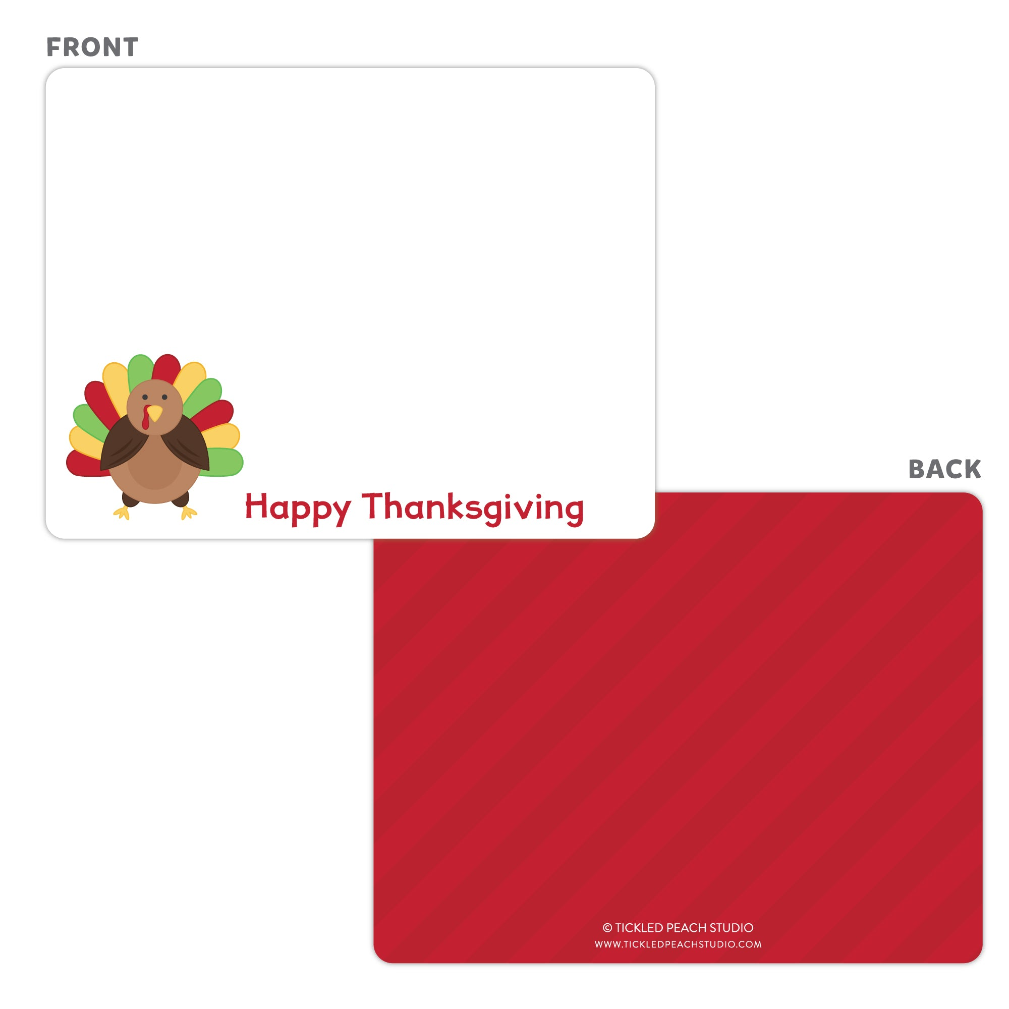Thanksgiving Turkey Note Cards