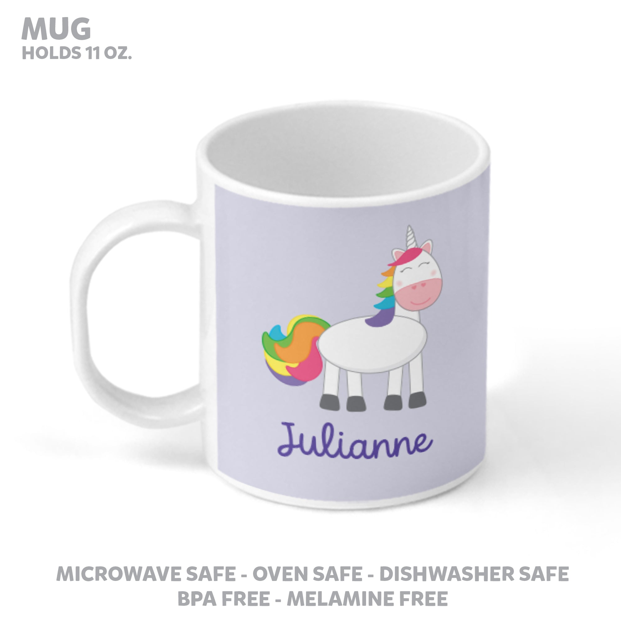 Unicorn Personalized Mealtime Set