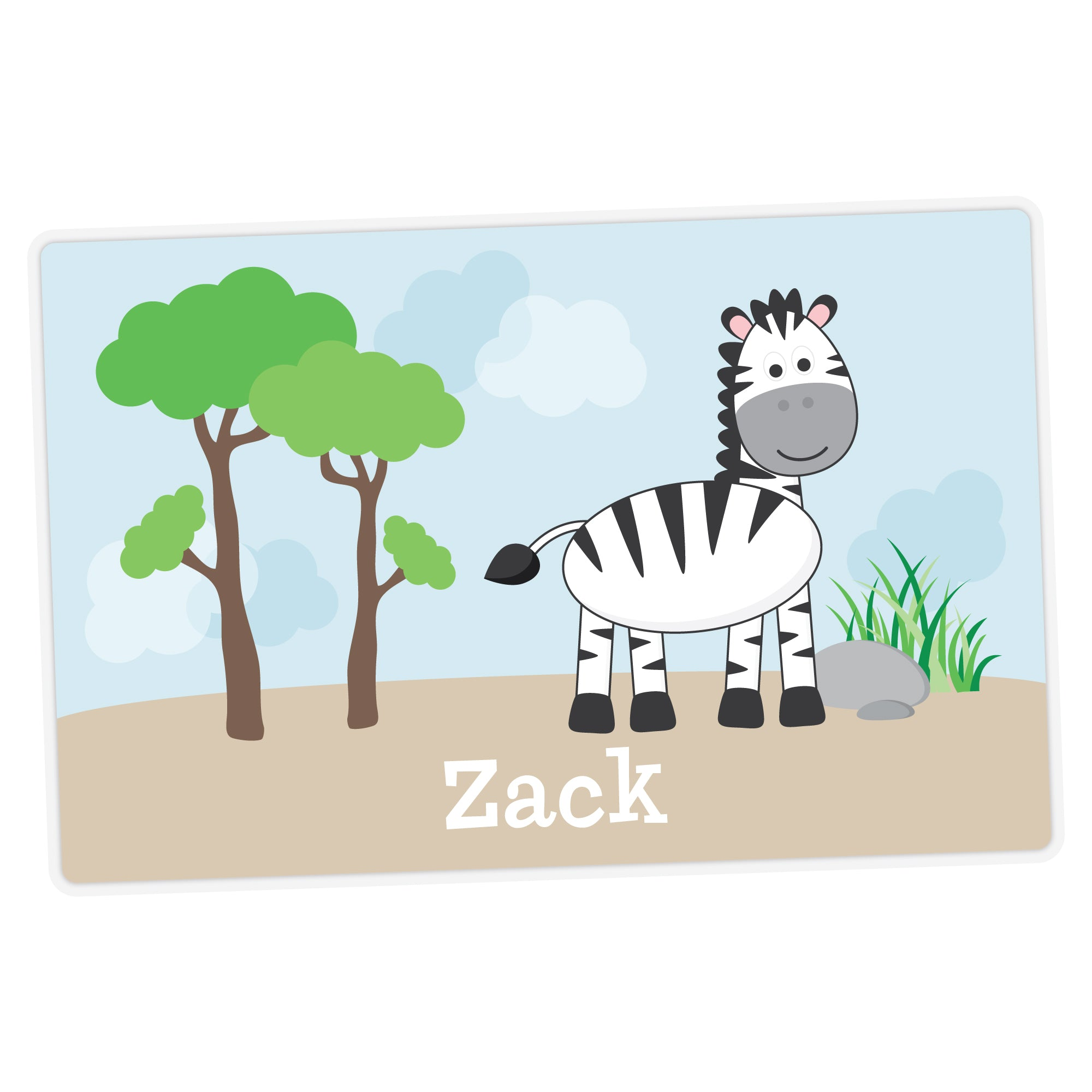 Zebra Personalized Placemat