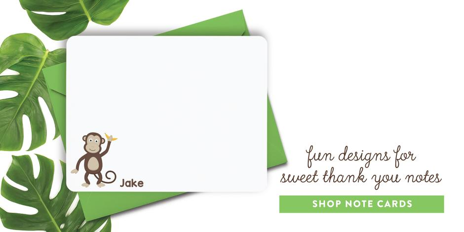 Personalized Note Cards for Kids