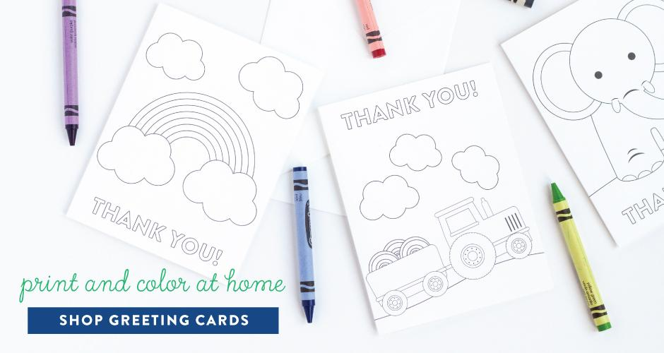 Printable Coloring Greeting Cards