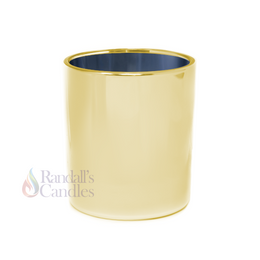 Oxford Medium 20cl Externally Electroplated Candle Glass - Gold