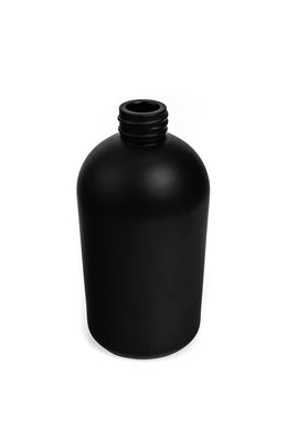 Extra Tall 300ml Boston Round Diffuser Bottle - Matt Black with Chrome Lid