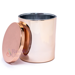 Oxford Medium 20cl External Electroplated Rose Gold Candle Glass Media 1 of 3