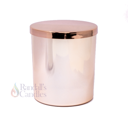 Oxford Large 30cl Externally Electroplated Candle Glass - Rose Gold