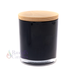 Oxford Medium 20cl Opaque Black Candle Glass