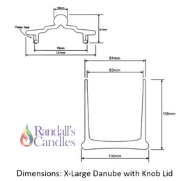 Danube X-Large Candle Glass With Lid - Opaque White