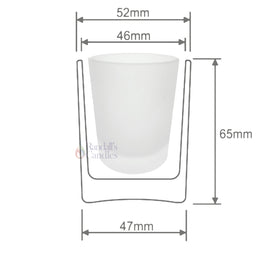 Votive Candle Glass - Frosted