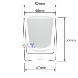 Votive Candle Glass - Opaque White