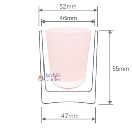 Votive Candle Glass - Pink