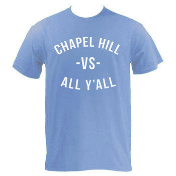 Chapel Hill VS All Y'all Tee - Carolina Blue