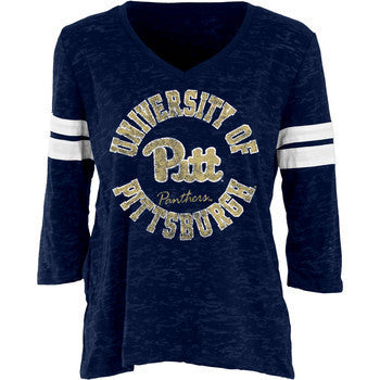 Pittsburgh Scrimmage Women's Burnout 3/4 Sleeve - Navy