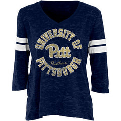 Pittsburgh Scrimmage Wms Burnout 3/4 Sleeve - Navy