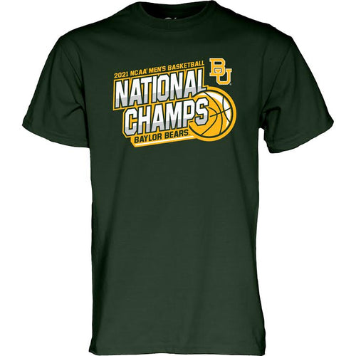 Baylor Bears Basketball 2021 National Champs ALPHA T-Shirt - Forest