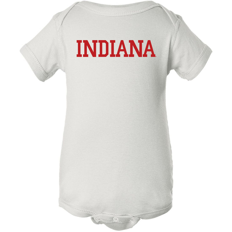 Indiana University Hoosiers Basic Block Creeper - White