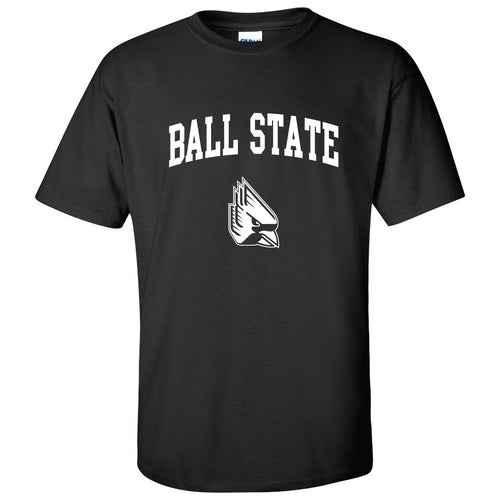 Ball State University Cardinals Arch Logo Short Sleeve T-Shirt - Black