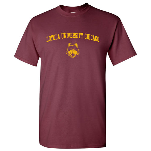 Loyola University Chicago Ramblers Arch Logo Short Sleeve T-Shirt - Maroon