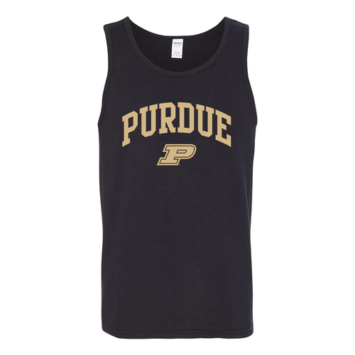 Purdue University Boilermakers Arch Logo Tank Top - Black