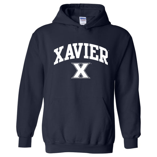 Xavier University Musketeers Arch Logo Heavy Blend Hoodie - Navy