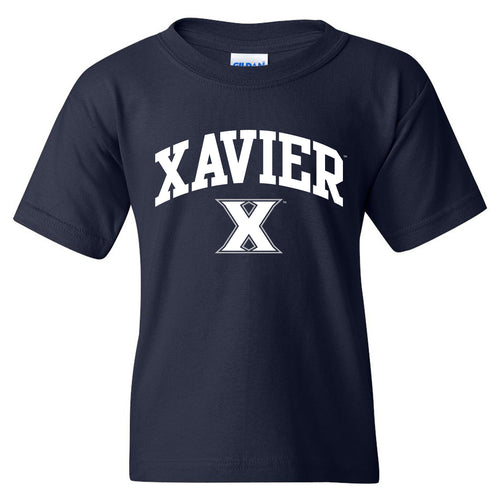 Xavier University Musketeers Arch Logo Youth Short Sleeve T-Shirt - Navy