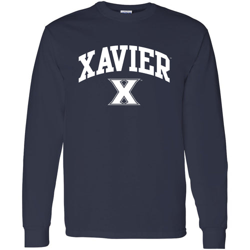Xavier University Musketeers Arch Logo Long Sleeve T-Shirt - Navy