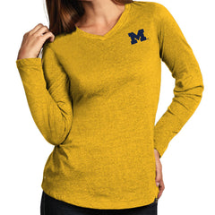 Block M Antigua Wms Flip L/S V-Neck - Yellow