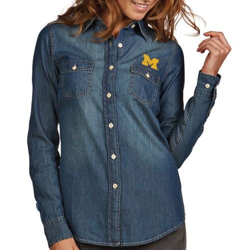 Block M Antigua Womens Button Up - Chambray