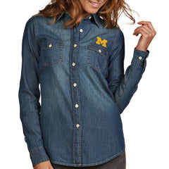 Block M Antigua Wms Button Up - Chambray