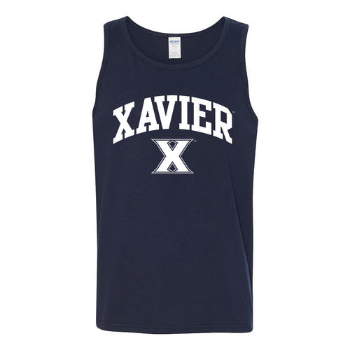 Xavier University Musketeers Arch Logo Heavy Cotton Tank Top - Navy