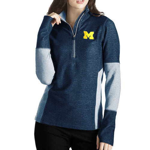 Block M Antigua Womens Pro 1/4 Zip - Navy