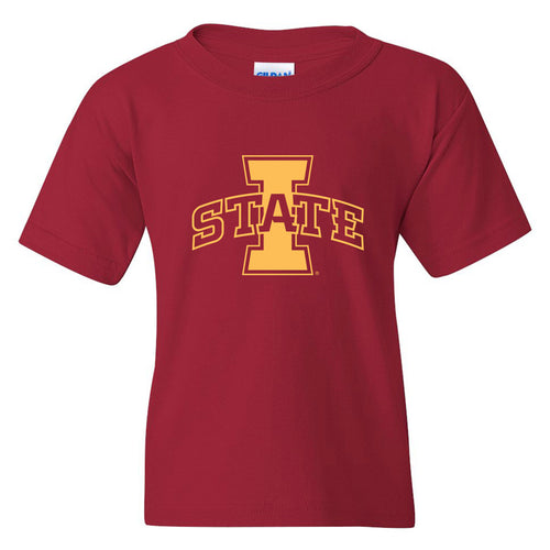 NCAA Primary Logo Youth Iowa State T Shirt - Cardinal