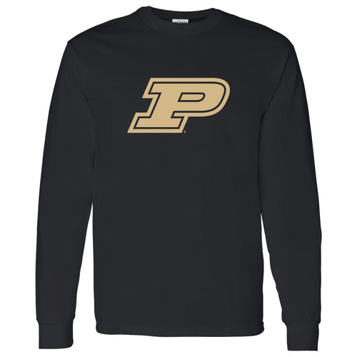 Purdue Boilermakers Block P Long Sleeve T Shirt - Black