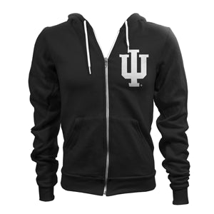 Indiana University Hoosiers Trident Full Zip Hoodie - Black