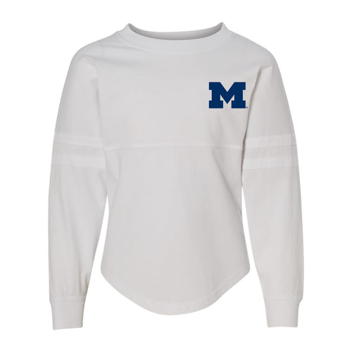 Left Chest Spirit University of Michigan Boxercraft Pom Pom Jersey Youth - White