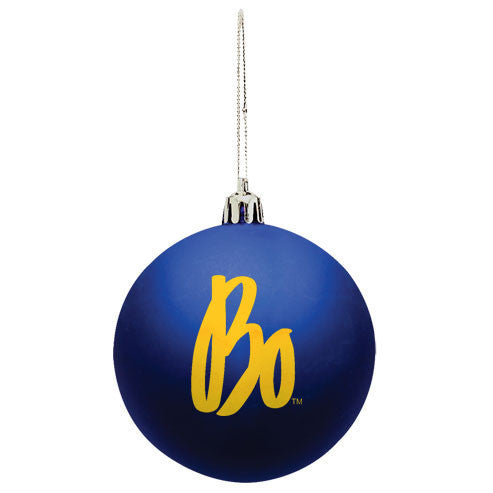 Bo Schembechler Signature Shatter Resistant Ornament - Blue