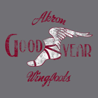 Akron Wingfoots - NBL - Athletic Grey - Underground Printing