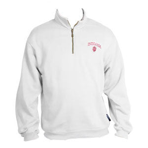 Indiana University Quarter Zip - White